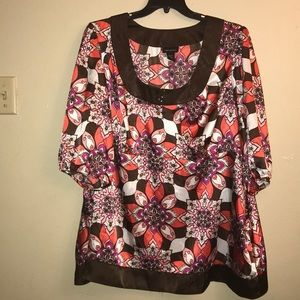 Lane Bryant,Medallion print top.size 26/28